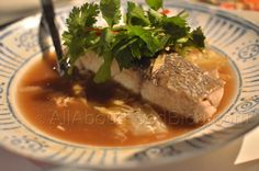 Bpla Dtom Som from Chat Thai Westfield – steamed blue eye cod in caramelized palm sugar, turmeric and tamarind sauce.