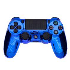 PlayStation DualShock 4 Custom Controller - Chrome Blue