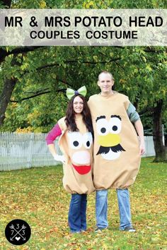 Mr. and Mrs. Potato Head from Toy Story 2