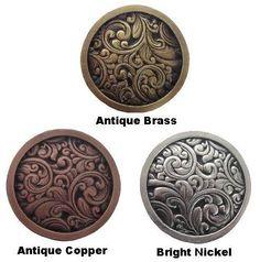 Charmant Flower Engraved Knob   1 1/2 Inch Diameter | Antique Furniture, Kitchens  And Dresser