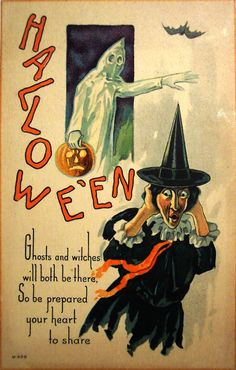 Halloween / Ghosts and witches / will both be there, / so be prepared / your heart to share.