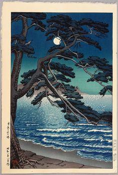 Kawase Hasui Title:Moon at Enoshima Date:1933.