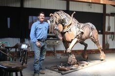 John Lopez studio - Scrap metal horse ♦ what talent and vision ♦