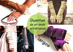 Bricomoda : Guantes largos antebrazos de un dedo