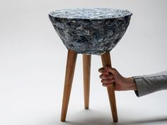 Stool Made From Textile Waste