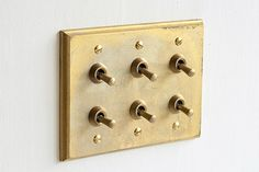 Architectural hardware of MATUREWARE by FUTAGAMI / brass casting surface