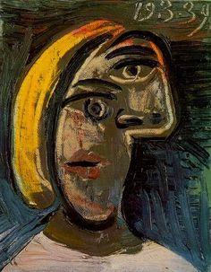 Pablo Picasso, 1939 Tête de femme aux cheveux blonds (Marie-Thérèse Walter)