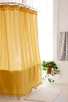 bedroom inspiration: I love this shower curtain, inspiration for window treatments.