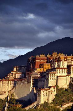 Potala Palace, Lhasa, Tibet - was the chief residence of the Dalai Lama until the 14th Dalai Lama fled to Dharamsala, India, during the 1959 Tibetan uprising.