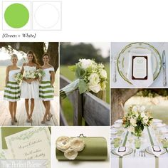 Green + White ☛ http://www.theperfectpalette.com/2012/03/spring-fever-green-white.html