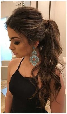 Wedding Ponytail Hairstyles, Bridal Ponytail, Puff Ponytail, Hair Puff, Retro Hairstyles, Easy Hairstyles, Ponytail For Wedding, Formal Ponytail, Summer Ponytail