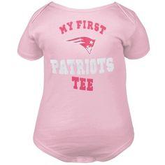 2886dea5f New England Patriots Newborn Girls My New First Creeper - Pink Newborn Girls