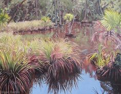 """Swamp Grasses"" by Hope Barton. Barton's work is currently on display at Thornebrook Gallery in Gainesville, FL."