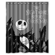 BOSKGML Custom The Nightmare Before Christmas WaterProof Polyester Fabric Shower Curtain in Size 60 x 72 ** Visit the image link more details.