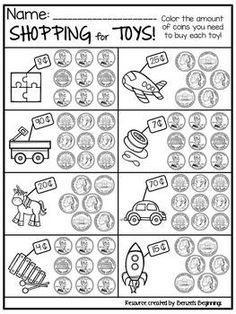 Money Worksheet Freebie!