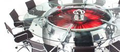 A Stunning Office Conference Table Made From the Engine of a Boeing 747 Jumbo Jet