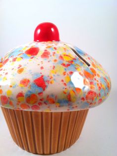 Ceramic Cupcake Coin Bank by modclay on Etsy, $26.00