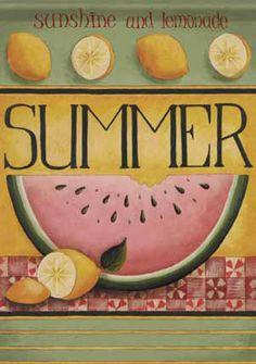 Watermelon Summer Flag