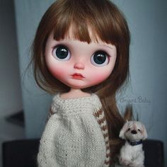 """""""Do small things with great love."""" ~ St. Therese Little Jolene (adopted) #umamibaby #customblythe #blythecustom #artdoll #art #doll #blythe #blytheadoption #blythephotography #toyphotography #blytheooak #dollphotography #blythestagram #blythedoll #brunette #faceup #ooakdoll #henriettashomeparty"""