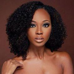 Yaya Dacosta Black Beauty Nude neutral Black woman Women of colour dark skin makeup natural makeup