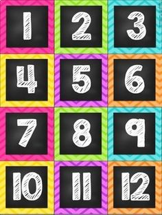 Calendar Display {Chalkboard and Chevron Classroom Decor Theme}