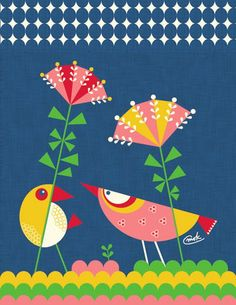 print & pattern-Carmen Mok for Vigo Cards Bird Illustration, Illustrations, Pattern Illustration, Diy Note Cards, Arte Tribal, Indian Folk Art, Madhubani Painting, Fabric Painting, Bird Art