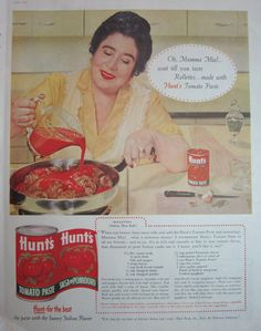 1957 Hunts Tomato Paste Vintage Advertisement featuring Rollettes Recipe by RelicEclectic, $7.00 #RelicEclectic #VintageAd #HuntsTomato #Recipe