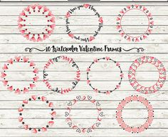 Valentine Frames Clipart: VALENTINE FRAMES Love by ClickDesigns