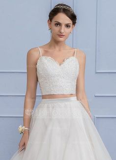 [US$ 49.99] Separates Sweetheart Lace Wedding Crop Top (002110541)