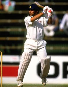 Century #4: 111 vs South Africa at Wanderers, Johannesburg on Nov 28, 1992  South Africa in the first innings scored a total of 292 runs. India came out to bat and none of the batsmen performed well. Sachin was the only player who managed to get a three-figure score of 111 taking the total to 227. The match ended in a draw.  Mandatory Credit: Mike Hewitt/Allsport Getty Images  Facebook.com/StuckOn99