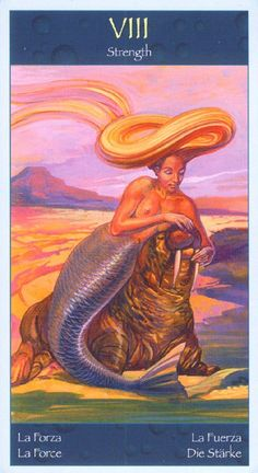 Tarot of Mermaids (Lo Scarabeo Series) (English and Spanish Edition) Mermaid Tarot, Tarot Cards Major Arcana, Strength Tarot, Divination Cards, Merfolk, Oracle Cards, Tarot Decks, Deck Of Cards, Wicca