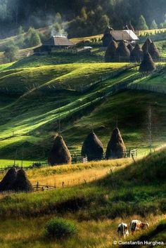 Landscape of Maramures, Romania by Constantin Hurghea Wonderful Places, Beautiful Places, Visit Romania, Romania Travel, Little Paris, Voyage Europe, Beautiful Landscapes, Ukraine, Places To See