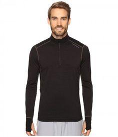 Hot Chillys - F8 Merino 8K Zip Tee (Solid Black) Women's T Shirt