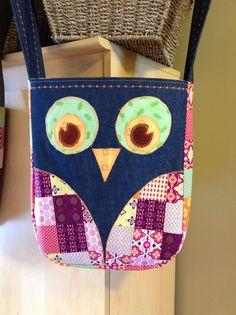 Denim Owl Bag