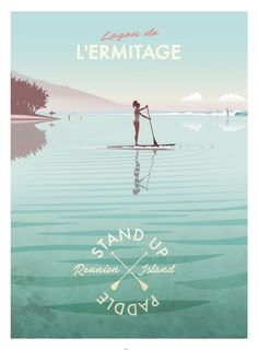 Lagoon de L'Hermitage Voyage Reunion, City Sketch, Surf Art, Jolie Photo, All Poster, Vintage Travel Posters, Surfing, Skateboard, Wordpress