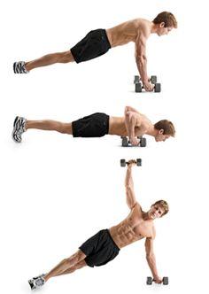 8) T-pushup