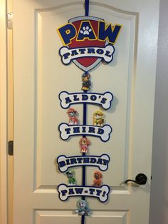 Paw Patrol party sign!                                                                                                                                                     More