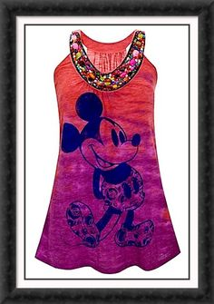 Disney Style # 4.  Would be a fun thing to do with an old t shirt.