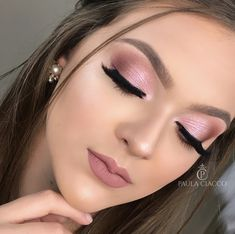 Click the link for more information on step by step eye makeup - My best makeup list Makeup List, Day Makeup, Cute Makeup, Pretty Makeup, Pink Eye Makeup, Neutral Makeup, Eyeshadow Makeup, Makeup Cosmetics, Wedding Hair And Makeup