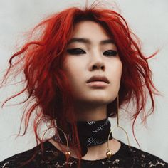New Photography Portrait Asian Character Inspiration 27 Ideas, Trendy Hairstyles, Girl Hairstyles, Drawing Hairstyles, Japanese Hairstyles, Korean Hairstyles, Black Hairstyles, Asian Red Hair, Pretty People, Beautiful People