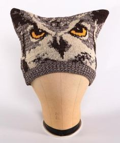 Owl Square Hat made in the USA from 75% pre-consumer recycled cotton and 25% acrylic. Order online: http://www.green3apparel.com/accessories/hats/owl-square-hat/ $22