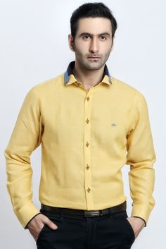 a3133e465 YELLOW LINEN SHIRT - Shirts Jaihind Retail