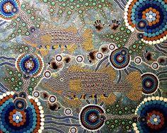 Australian dot painting-Colin Jones