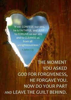 He has promised forgiveness