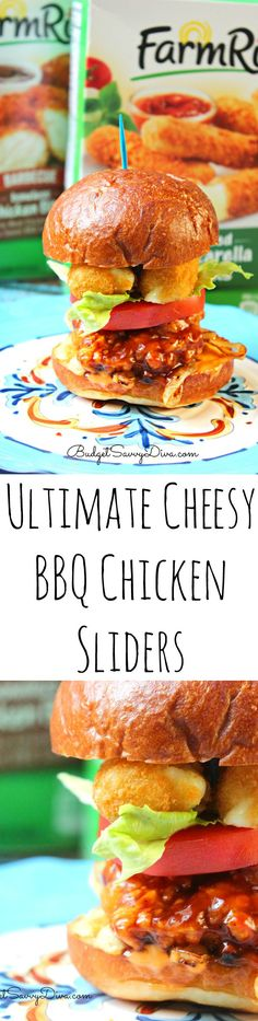 Ultimate Cheesy BBQ Chicken Sliders Recipe - my husband loved this slider! Took under 30 minutes to make and they were easy too! Cheesy and Tasty! Love Love Love! Easy Slider Recipe For You! @Walmart ad #BackYourSnack