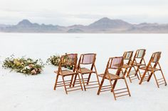 Spring elopement styled shoot at the Bonneville Salt Flats in Utah photographed by Swan Photo + Video. This shoot features a non-traditional green wedding dress for the first look, then a flowy white Carol Hannah gown. Styling and planning by Traveling Shoots with Taylor; florals by EventStems Green Wedding Dresses, Fort Worth Wedding, Elopement Inspiration, Swan, Dallas, Florals, Traveling, Traditional, Weddings