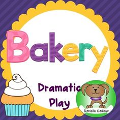 Included in this packet for a Bakery dramatic play center are a variety of props, and opportunities for student writing.-Welcome to the Bakery sign-Open sign-Closed sign-16 vocabulary word cards (bakery items and flavors)-3 templates for chef hats-4 shape templates to design a cake-bakery order form-customer feedback form-Enter the Bakery recipe contest sign-Recipe contest entry form-Bakery secret recipe cardHappy Baking!Graphics…