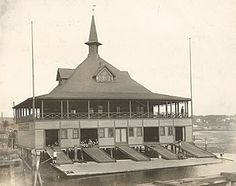 Yale's first boathouse