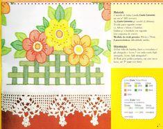 80 Gráficos de Crochet para Aprender a Fazer - Arte que Faz: Artesanato e Decoração Crochet Borders, Crochet Lace, Lace Border, Pot Holders, Handmade, Gallery, Paper Purse, Crochet Carpet, Cross Stitch Embroidery
