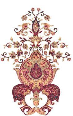 Textile Pattern Design, Textile Patterns, Textile Prints, Pattern Art, Paisley Art, Paisley Design, Arabesque, Art Chinois, Islamic Art Pattern